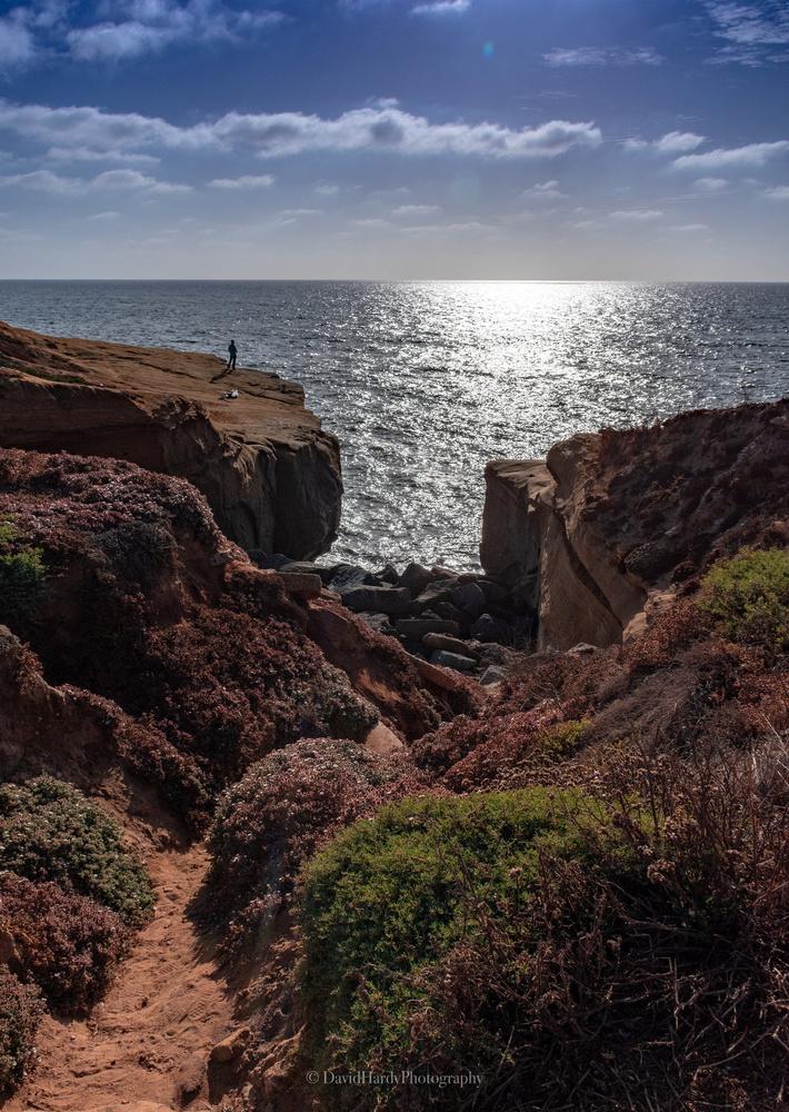 Sunset Cliffs Beach in San Diego by David Hardy