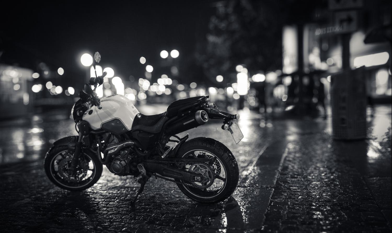 Night Rain Bike by Edward Noble