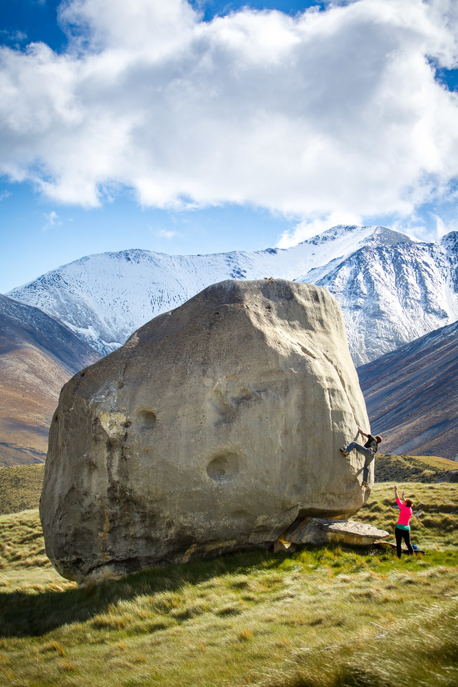 Bouldering in Castle Hill New Zealand by Mike Calabro