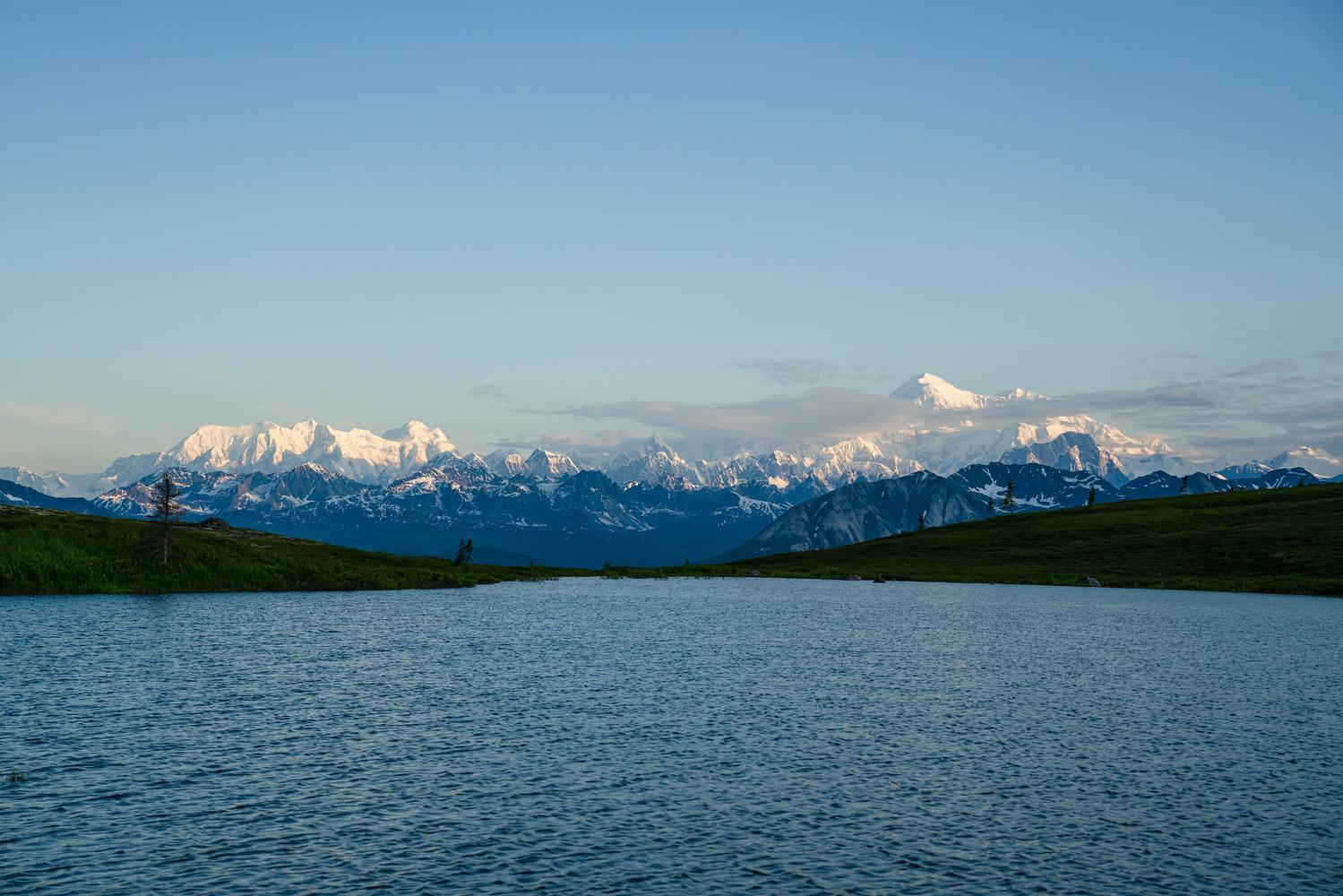 Denali and the Lake by TYLER YATES