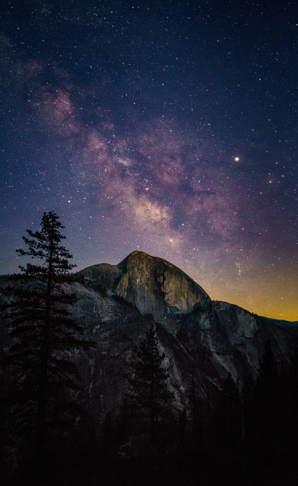 Milky Way over Half Dome by TYLER YATES