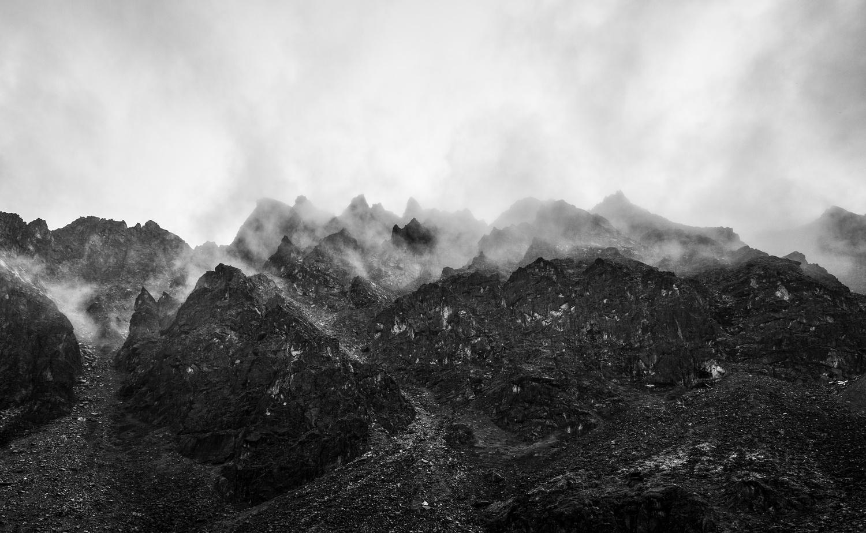 Shrouded Snowbird Mountains by TYLER YATES