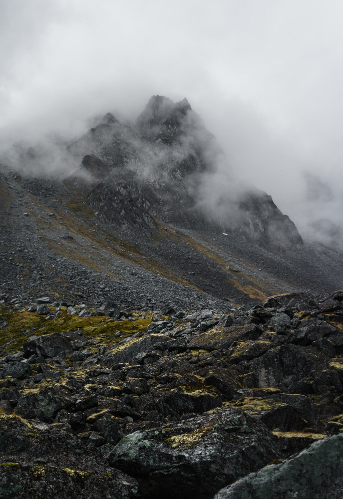 Talus and Clouds by TYLER YATES