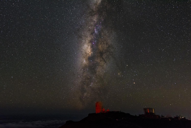 Milky Way Over Haleakala Observatory by James Prunesti