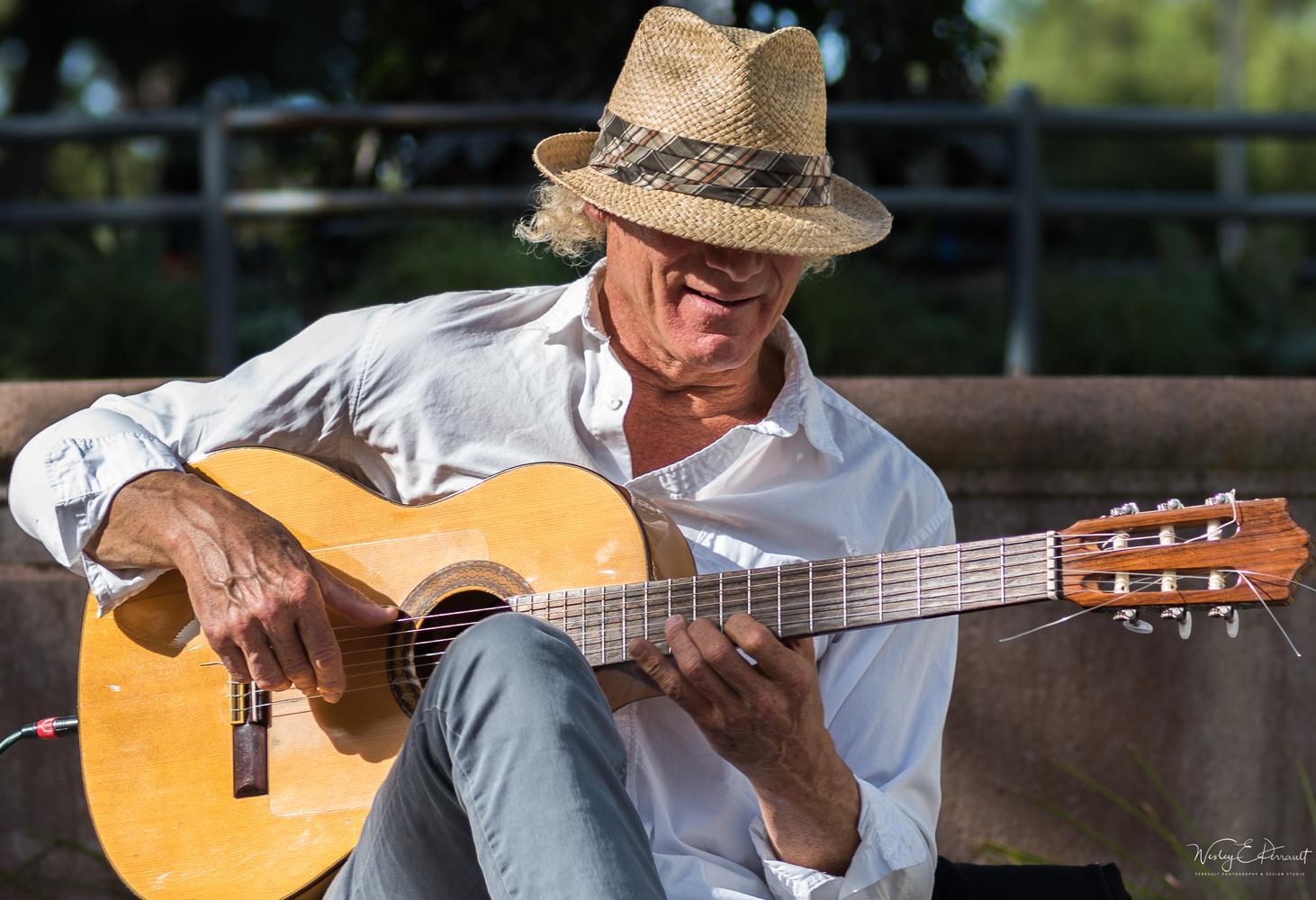 Guitar Guy  by Wesley Perrault