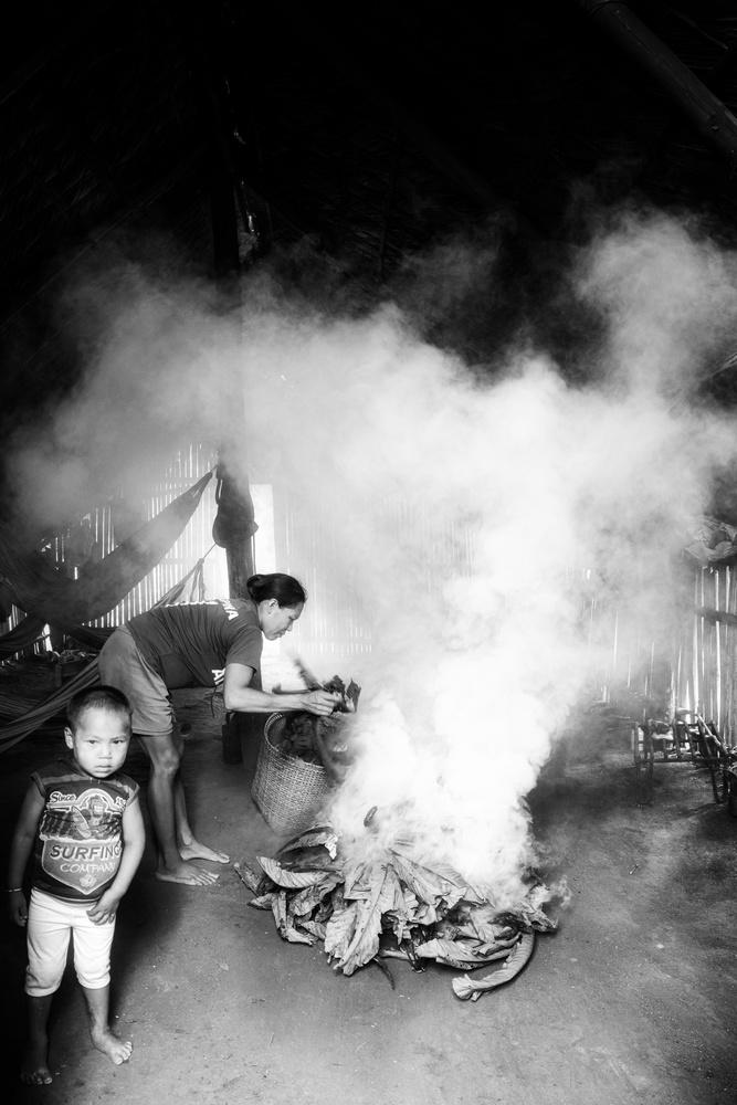 Roasting coca by Hannier Pulido