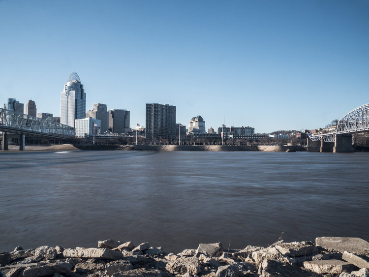 Cincinnati across the way by Stephen Whittenburg