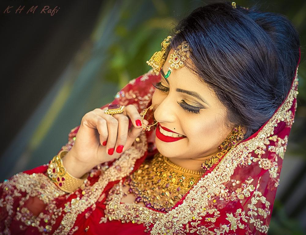 Happy bride by Rafi Khan