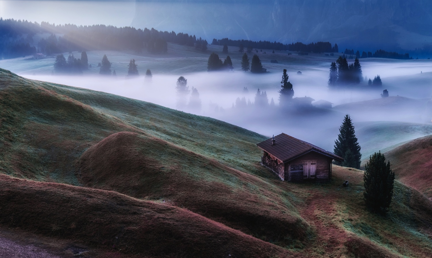 Cabin on the right! by Richard Beresford Harris