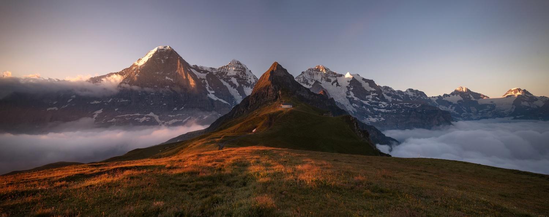 The Eiger, Mönch and Jungfrau by Richard Beresford Harris