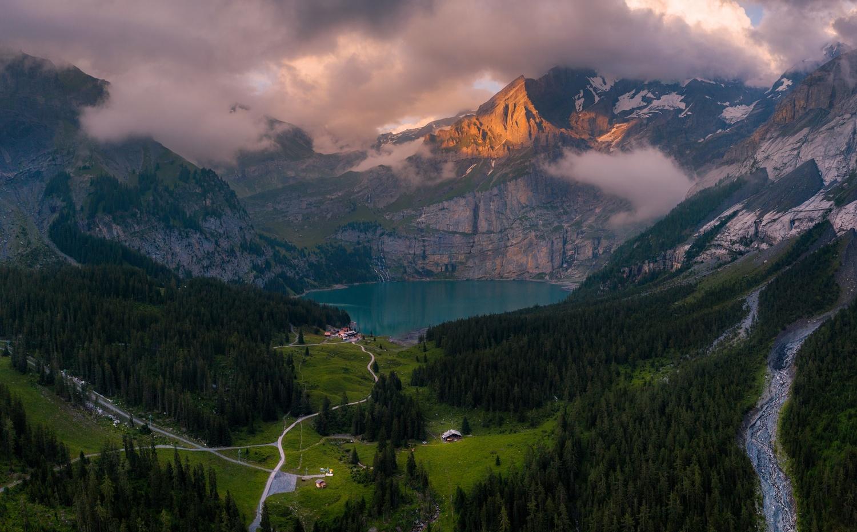 Oeschinen Lake by Richard Beresford Harris