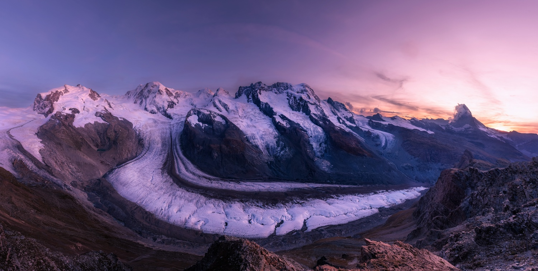 The Gorner Glacier by Richard Beresford Harris