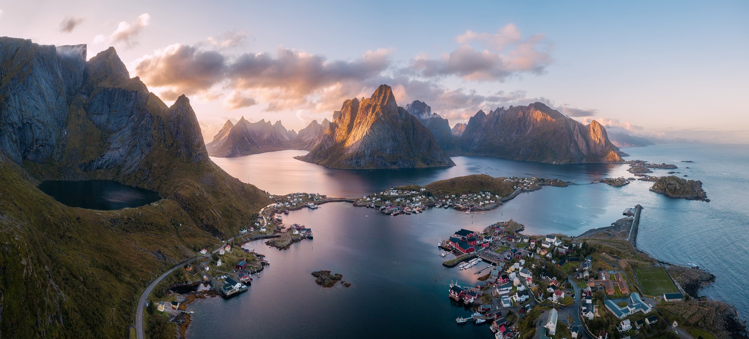 Just another morning in Reine. by Richard Beresford Harris