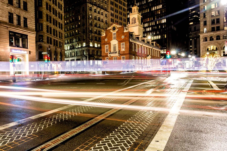 Boston Light Trails by Mark Brennan