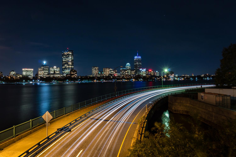 Memorial Drive light trails by Mark Brennan