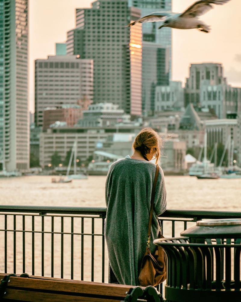 Girl at Sunset by Mark Brennan