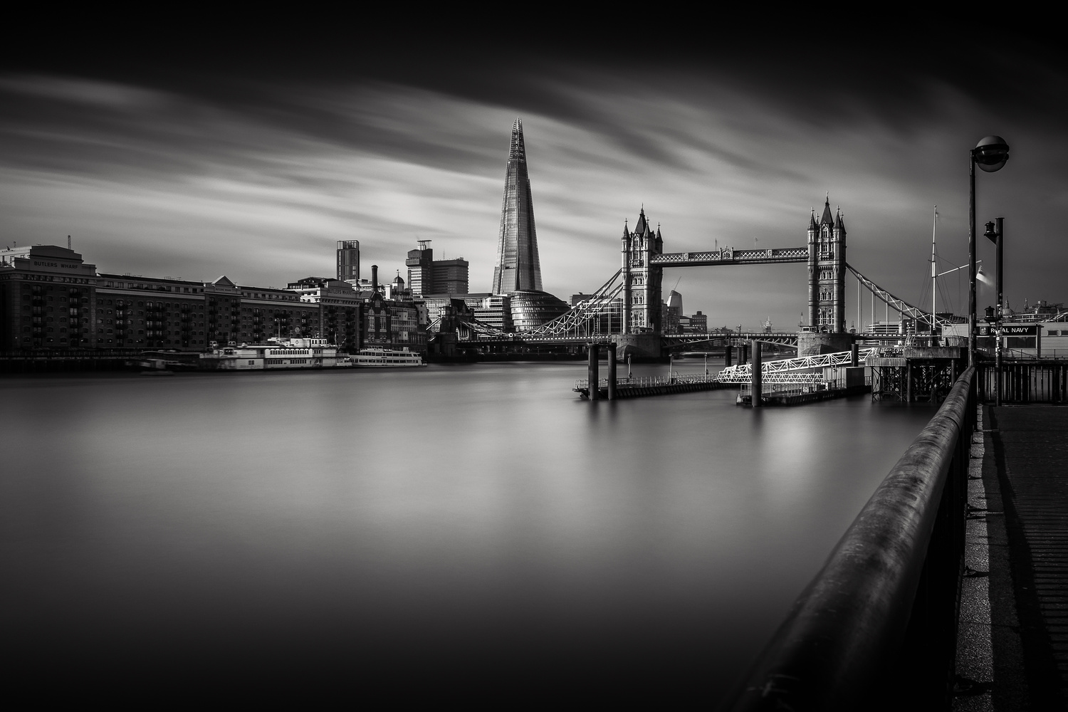 A view on the Tower Bridge by Laurent J.A. Belener