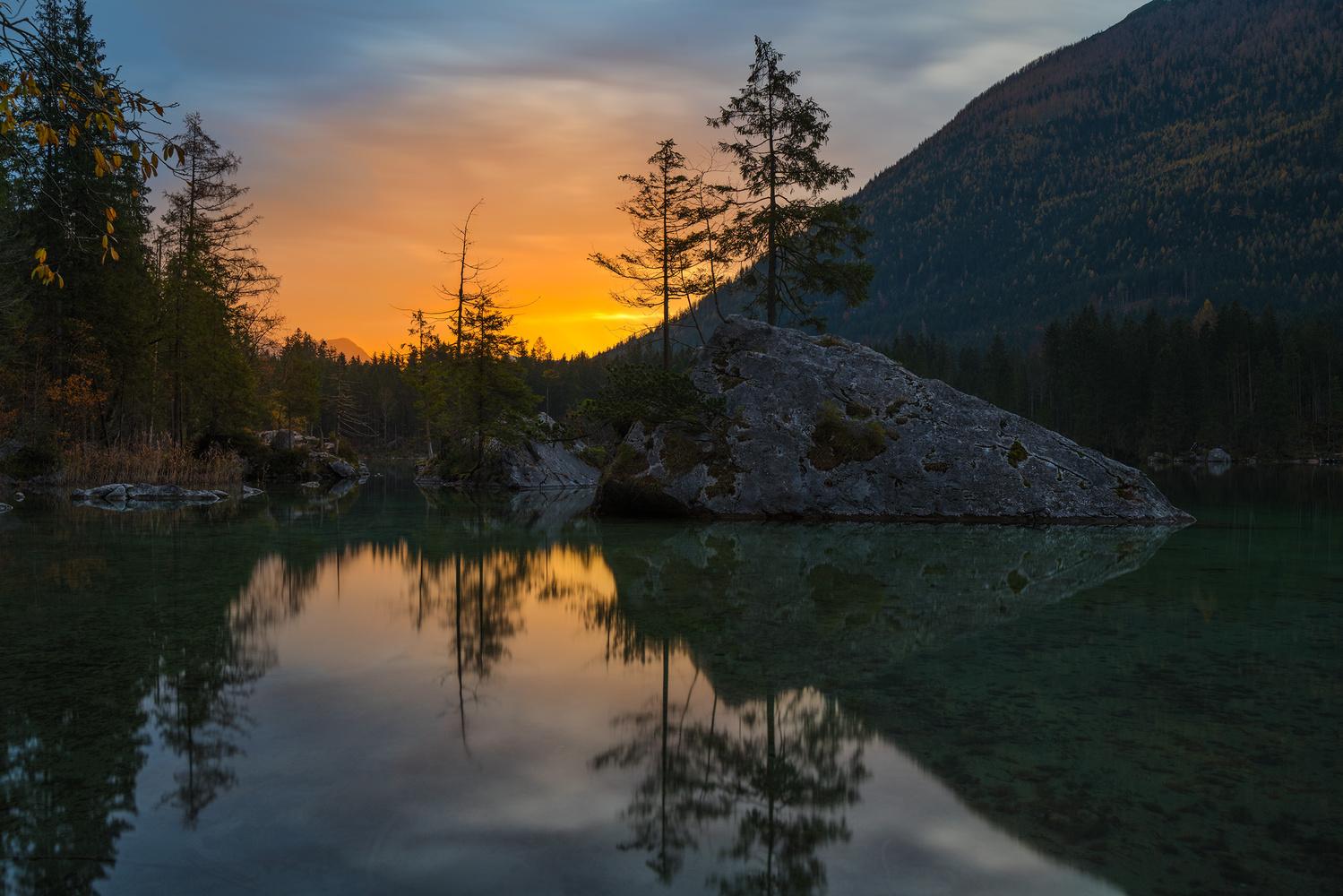Sunrise over Hintersee by Bruce Neeka