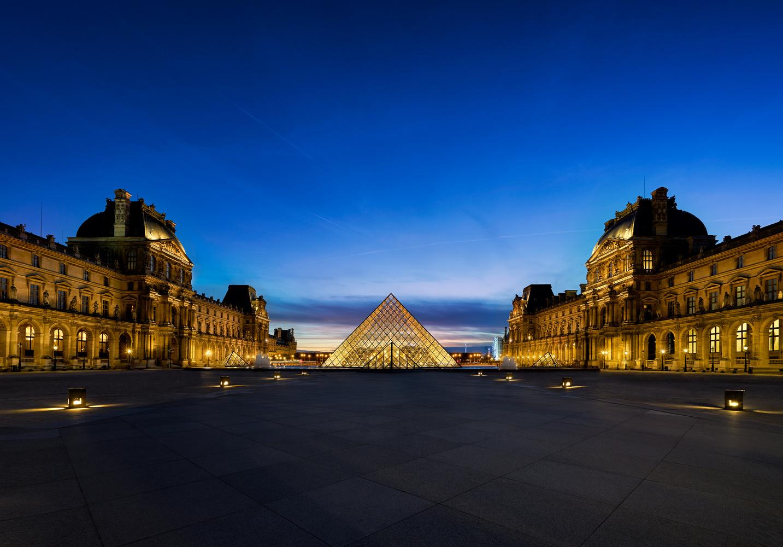 Sunset - Musée du Louvre by Kevin Gewinner