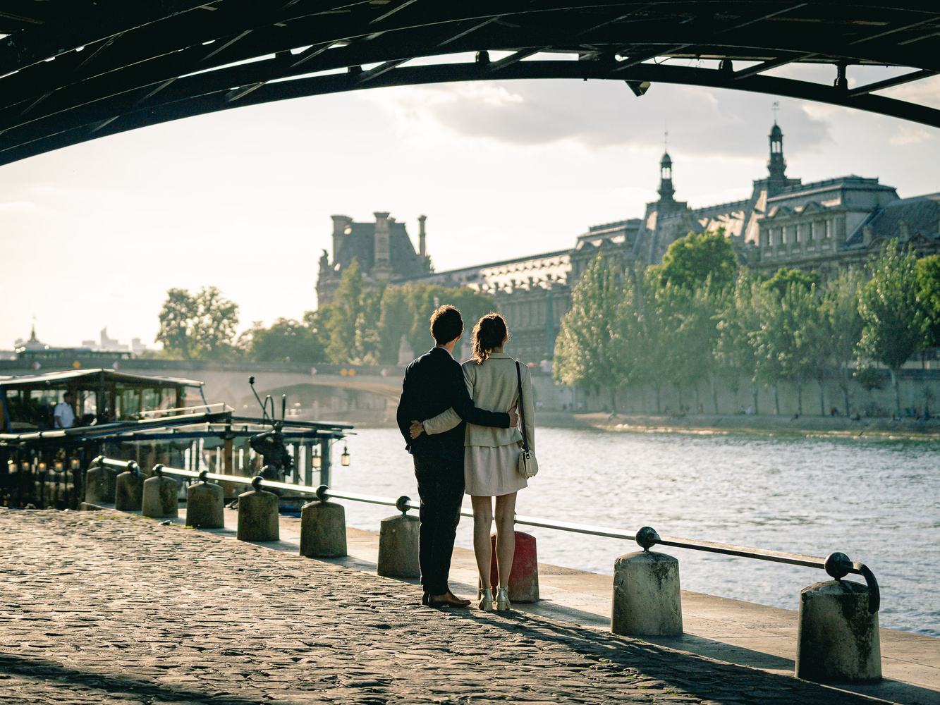 Lovers under the bridge by Sebastien Sepheriades