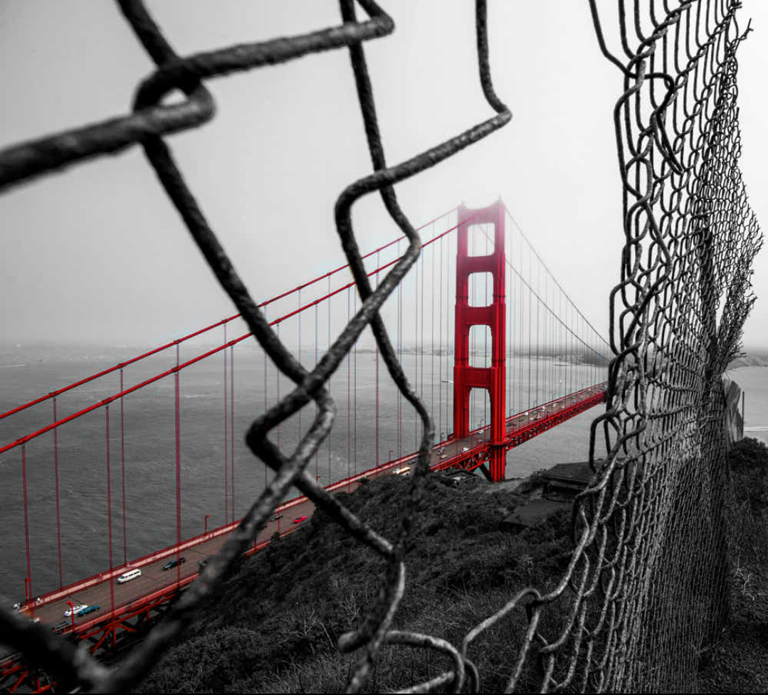 Golden Gate Bridge from a different perspective by Joel V