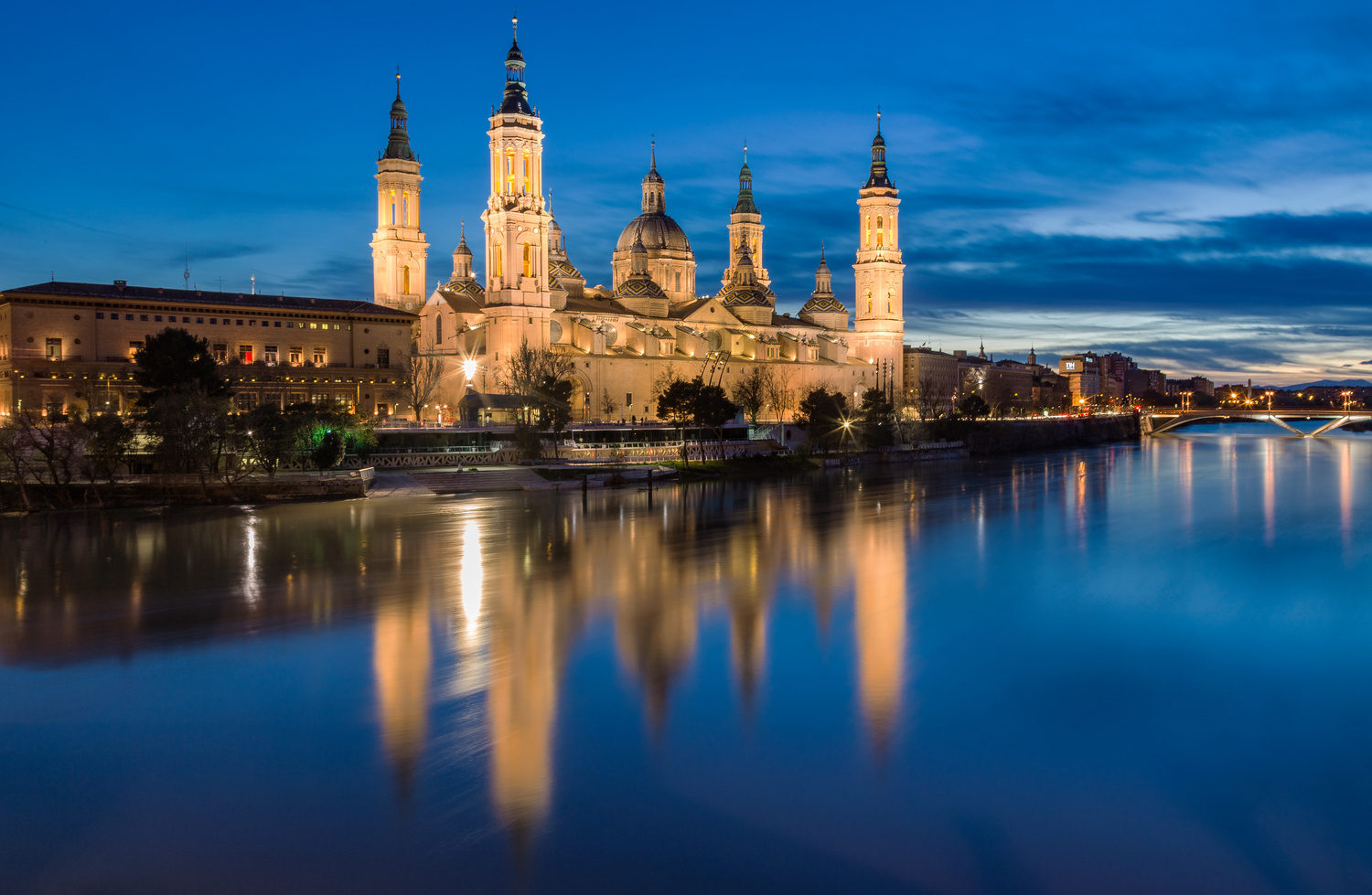 Reflected Basilica of Our Lady of the Pillar by Alexandru Pastor