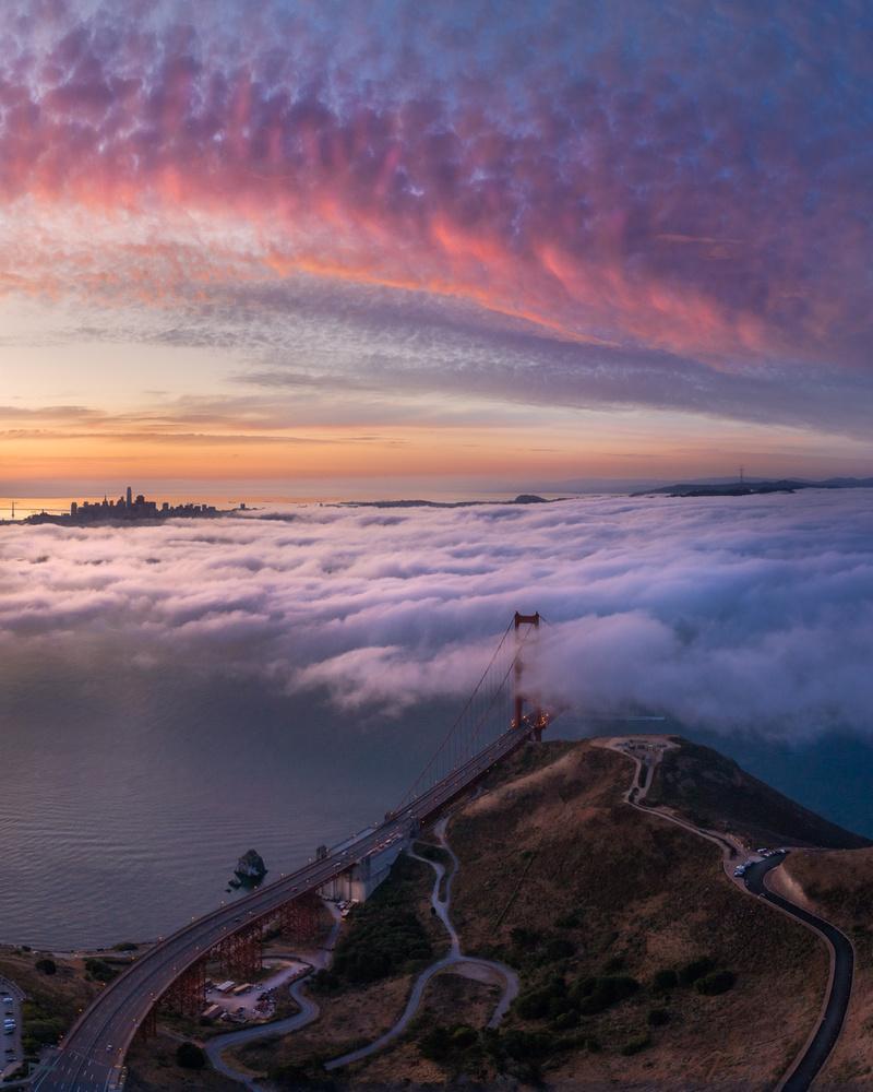 Golden Gate Bridge Sunset by Ryan Fitzsimons
