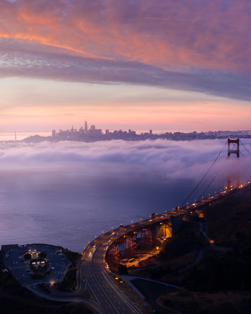 Low fog over SF by Ryan Fitzsimons