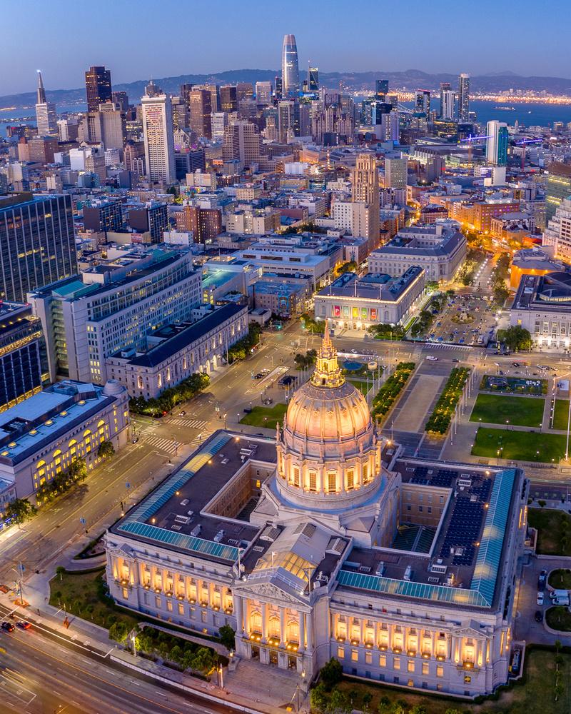 City Hall Blue Hour by Ryan Fitzsimons