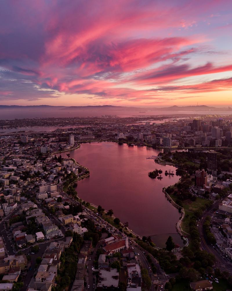 Lake Merritt from Above by Ryan Fitzsimons