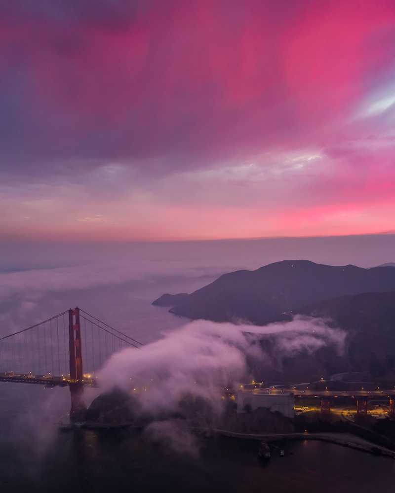Sunset above the Golden Gate. by Ryan Fitzsimons