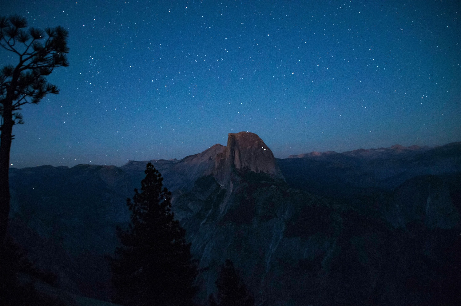 Half Dome Under The Stars by Grace Cureton