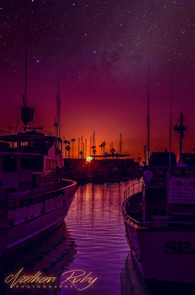 Harbor Sunset by Nathan Ruby