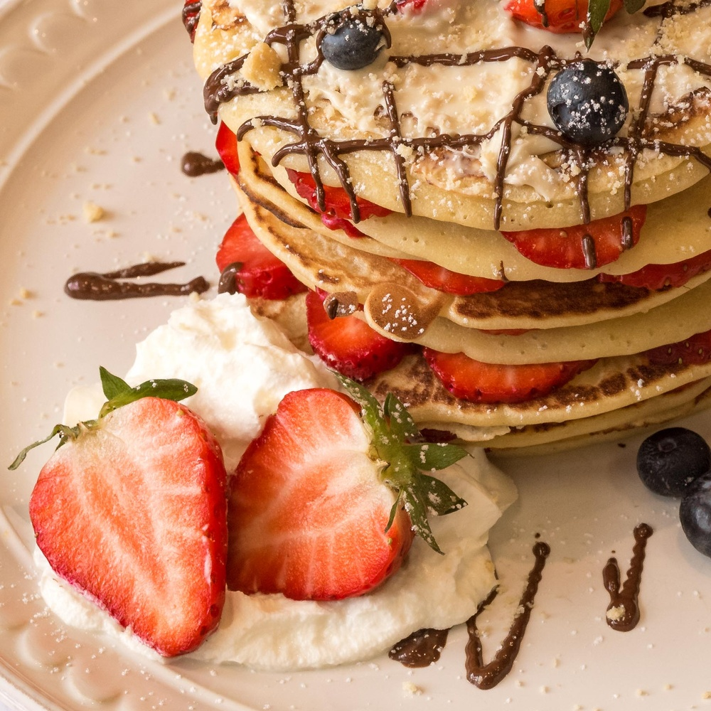 Strawberry Pancakes by Kevin Drury