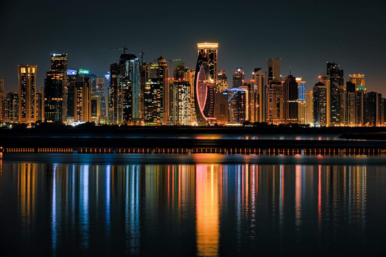 Doha West Bay by mark allan