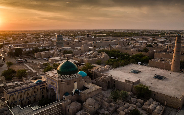 Sunset over Khiva by mark allan