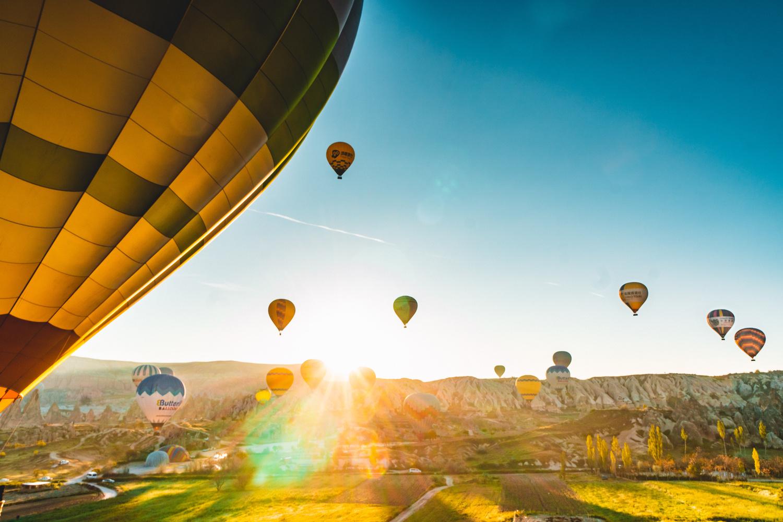 Balloons in Cappadocia by mark allan