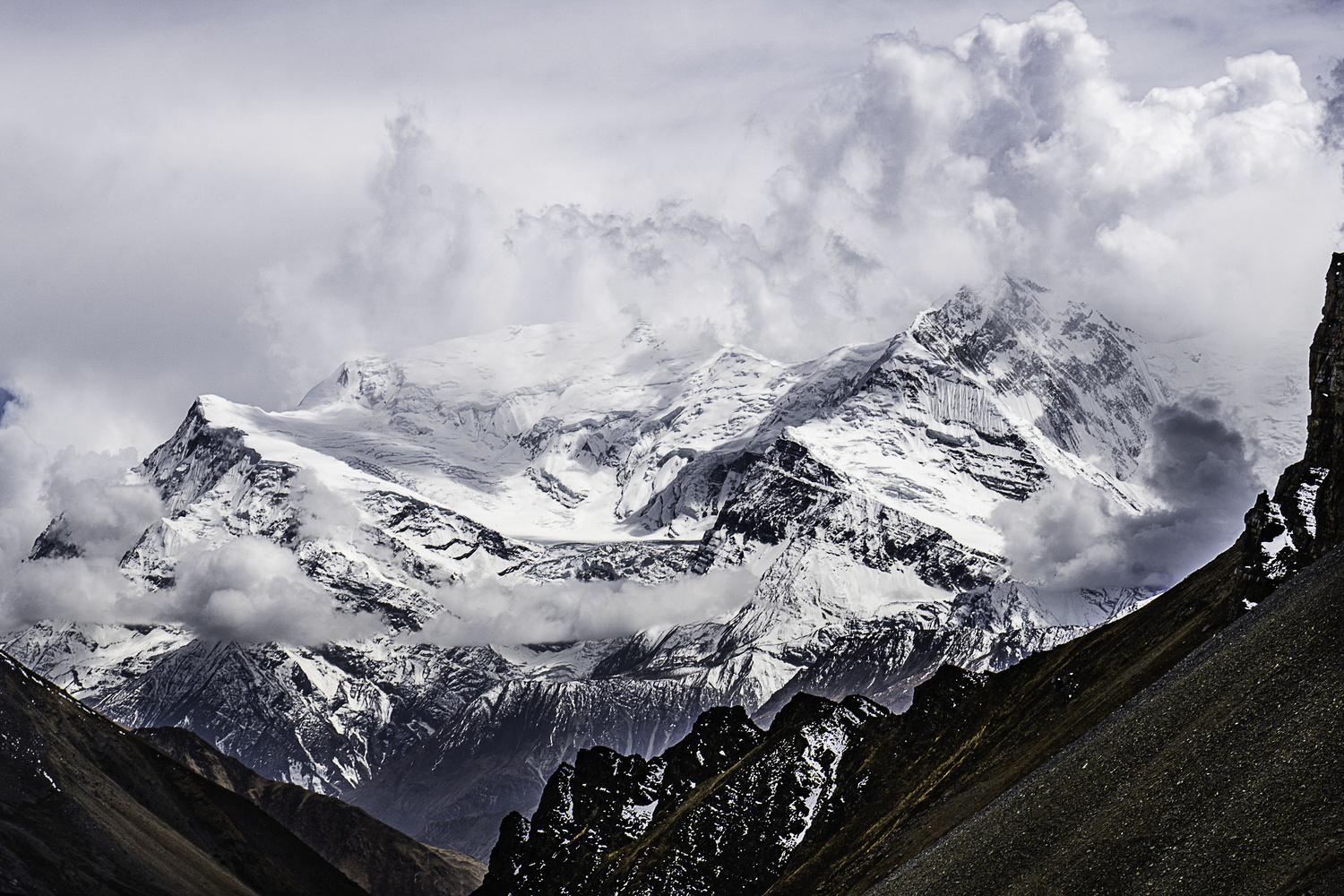 View from High Camp on the Annapurna Circuit by mark allan