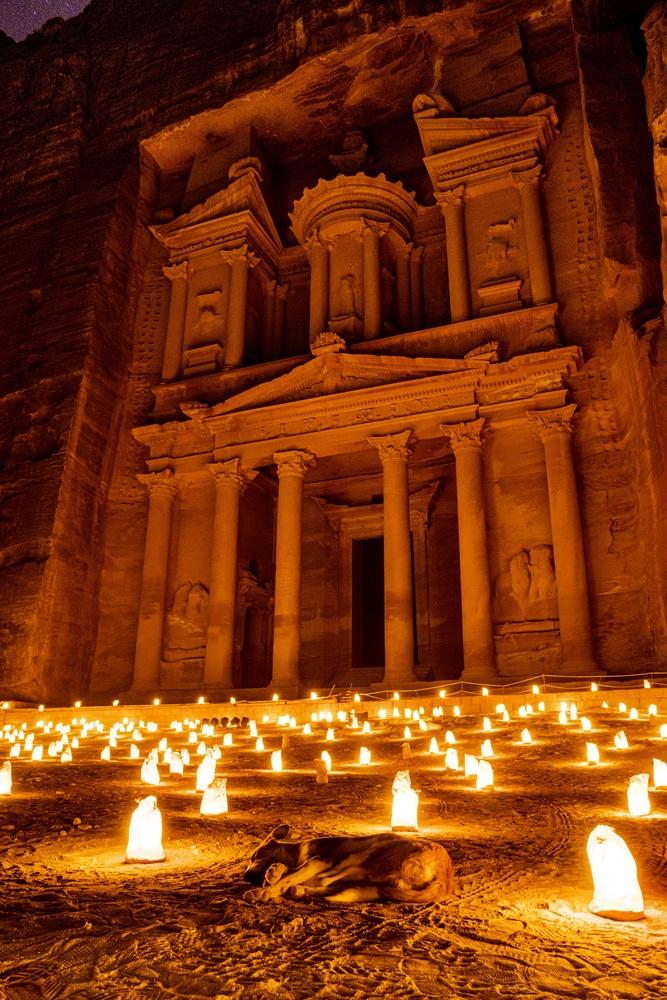 Petra by Night by mark allan