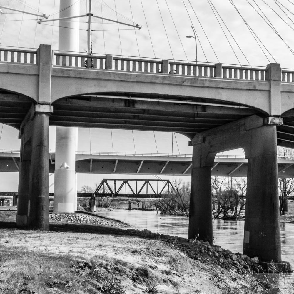 Three Bridges over the Trinity by Marilyn Pierce