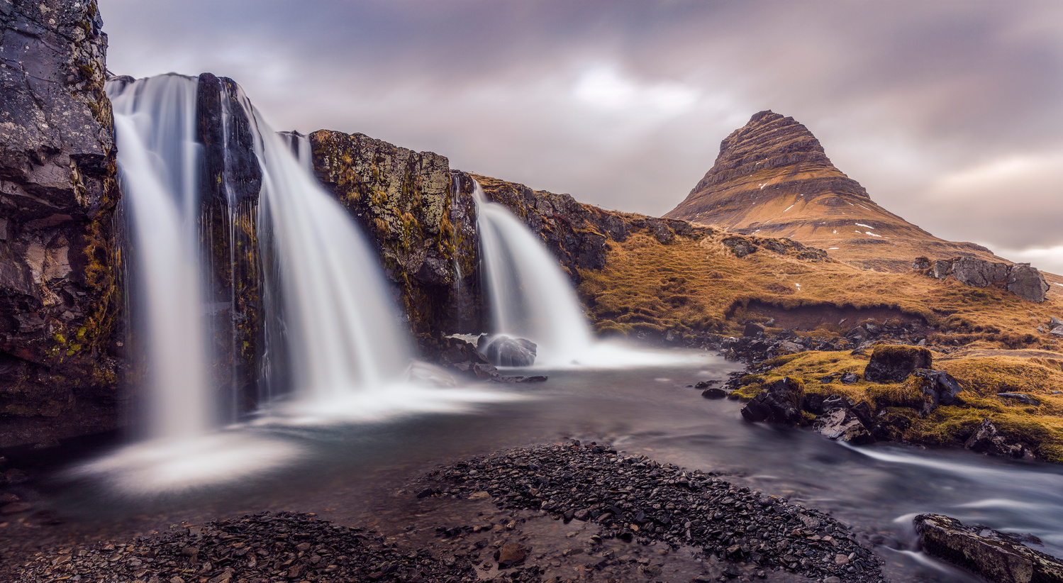 Kirkjufell Snaefellsnes Iceland late winter pano by Andres Moline