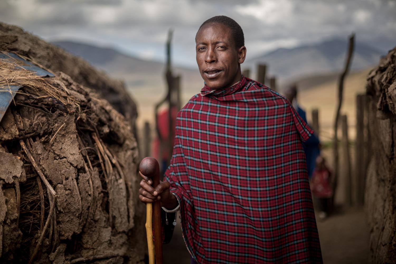 Maasai villager by Ilya Nodia