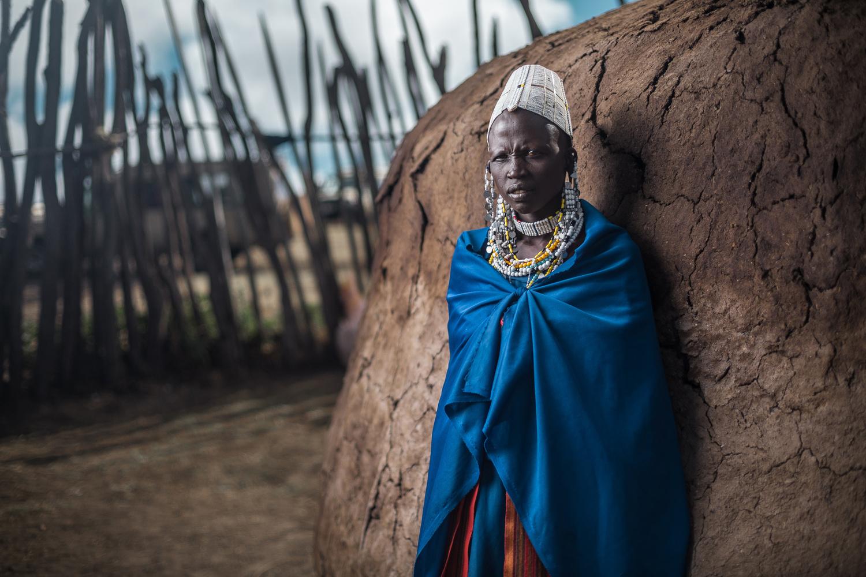 Maasai woman by Ilya Nodia