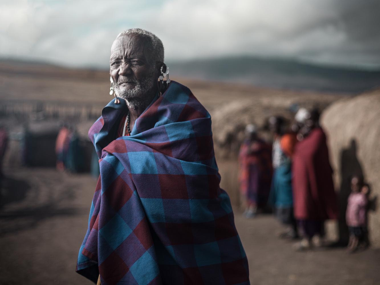 Maasai village leader by Ilya Nodia