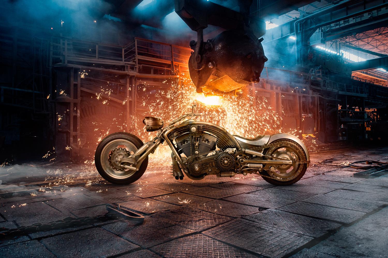 Harley-Davidson Custom: Terminator by Ilya Nodia
