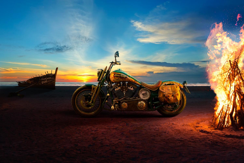 Harley-Davidson Custom: Abordage by Ilya Nodia