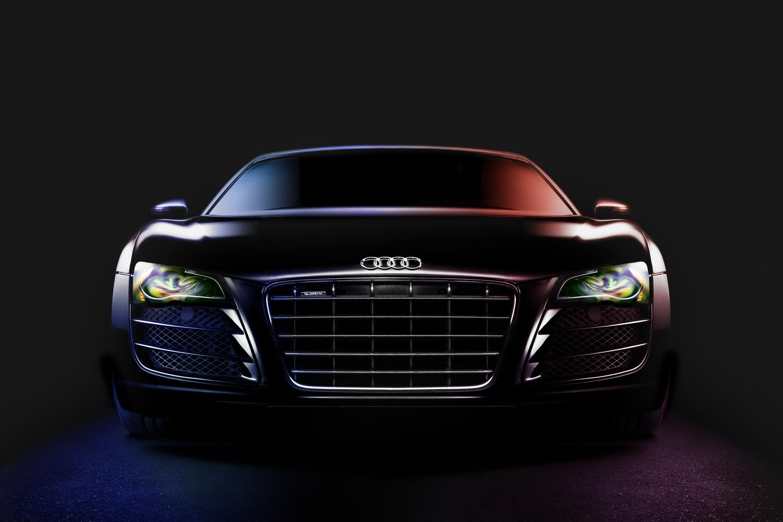 Audi R8 Spyder V10 Light Painting by Thomas Boudewijn