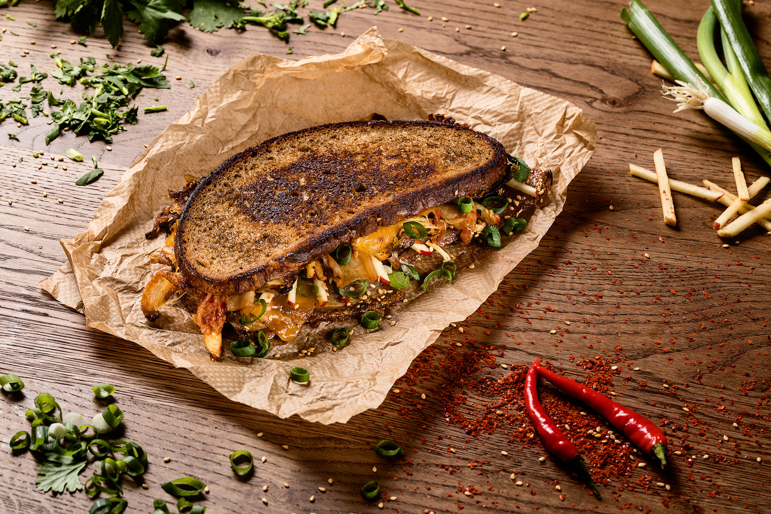 Hot Grilled-Cheese Sandwich by Till Luz