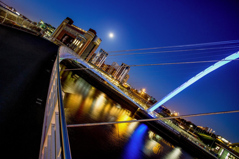 The Millenium Bridge, Newcastle by Mark Heavisides