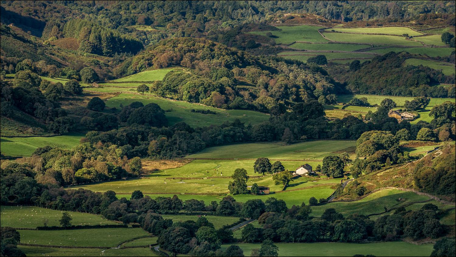 Morning light on Fell Foot Farm,Little Langdale, Cumbria by Mark Heavisides